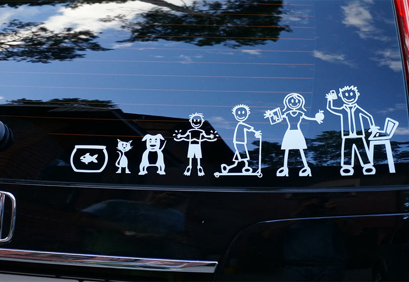 auto-sticker-family