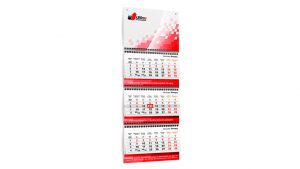 Настенные квартальные календари 3 блока на пружине от 138 руб. за шт.